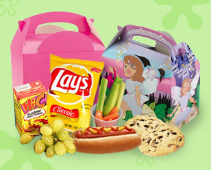 Food boxes with kids party food