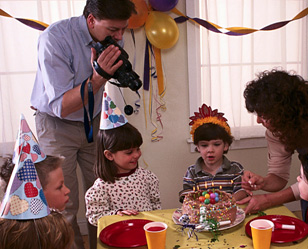 videotaping birthday party
